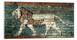 Acrylglas print  Lion mosaic at the temple of Babylon