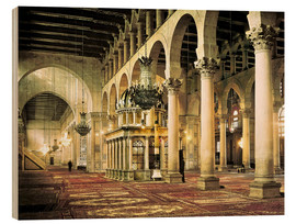 Hout print  The Umayyad Mosque in Damascus