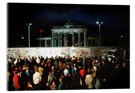Acrylglas print  Fall of the Berlin Wall