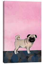 Canvas print  Pug dog - Martine Vuitton-Serape
