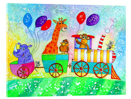 Acrylglas print  Funny animal railroad - siegfried2838
