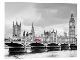 Acrylglas print  Westminster bridge with look at Big Ben and House of parliament - Edith Albuschat