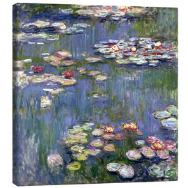 Canvas print  Waterlelies - Claude Monet
