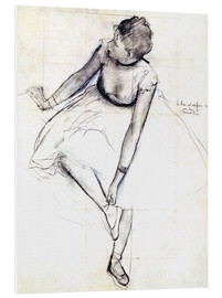 PVC print  Dancer adjusting her shoe - Edgar Degas