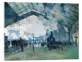 Acrylglas print  Saint Lazare Train Station: the train from Normandy - Claude Monet