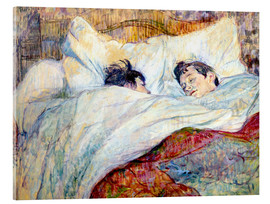 Acrylglas print  The Bed - Henri de Toulouse-Lautrec