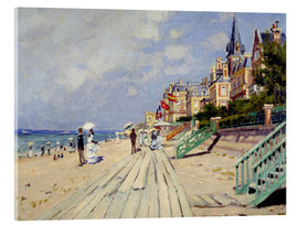 Acrylglas print  The Boardwalk on the Beach at Trouville - Claude Monet