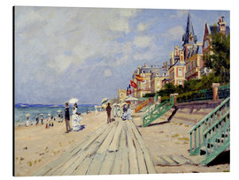 Aluminium print  The Boardwalk on the Beach at Trouville - Claude Monet