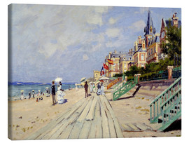 Canvas print  The Boardwalk on the Beach at Trouville - Claude Monet