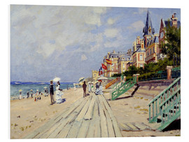 PVC print  The Boardwalk on the Beach at Trouville - Claude Monet