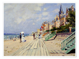 Premium poster  The Boardwalk on the Beach at Trouville - Claude Monet