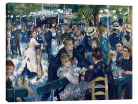 Canvas print  Bal du moulin de la Galette - Pierre-Auguste Renoir