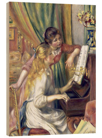 Hout print  Girls at the Piano - Pierre-Auguste Renoir