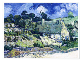 Premium poster Thatched cottages at Cordeville