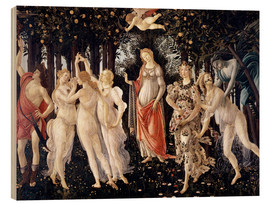 Hout print  The Spring - Sandro Botticelli