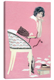 Canvas print  pink books - Clarence Coles Phillips
