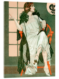 Acrylglas print  Lady writing - Clarence Coles Phillips