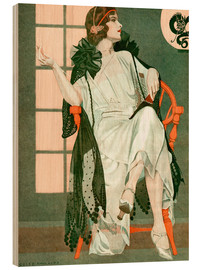 Hout print  Lady writing - Clarence Coles Phillips