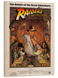 Hout print  Indiana Jones - Raiders of the lost ark