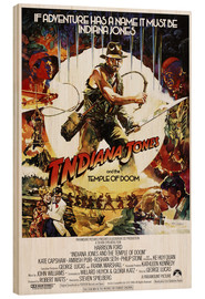 Hout print  Indiana Jones and the temple of doom