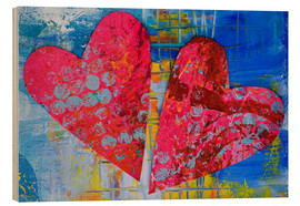 Hout print  Colorful Love - Andrea Haase