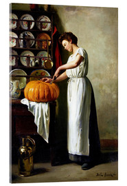 Acrylglas print  Carving the pumpkin - Franck Antoine Bail