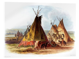 Acrylglas print  Camp of Native Americans - Karl Bodmer
