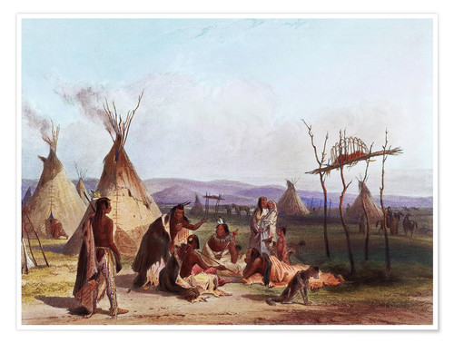 Premium poster Camp of Native Americans