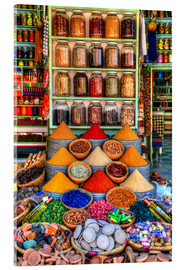 Acrylglas print  Spices on a bazaar in Marrakech - HADYPHOTO