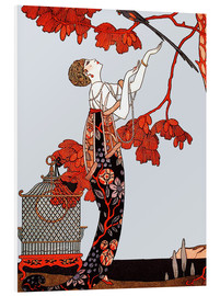 PVC print  The flighty bird - Georges Barbier