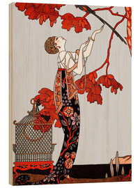 Hout print  The flighty bird - Georges Barbier