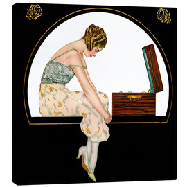 Canvas print  The music of women - Clarence Coles Phillips