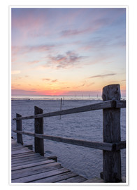 Premium poster  Jetty into the sea from St Peter Ording - Dennis Stracke