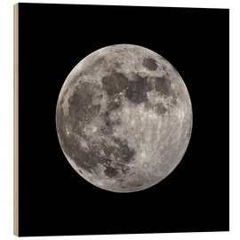 Hout print  Full moon - MonarchC