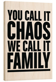 Hout print  Family - dolceQ