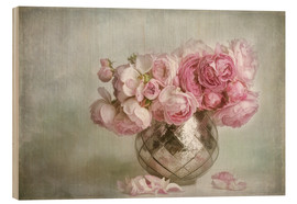 Hout print  Pretty in pink - Lizzy Pe
