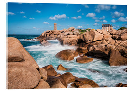 Acrylglas print  Atlantic Ocean coast in the Brittany near Ploumanac'h (France) - Rico Ködder