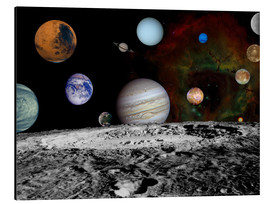 Aluminium print  Montage of the planets