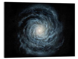 Acrylglas print  face-on view of the Milky Way - Ron Miller