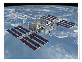 Premium poster International space station ISS