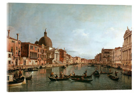 Acrylglas print  Venice, The Grand Canal with Simeone Piccolo - Antonio Canaletto