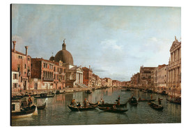 Aluminium print  Venice, The Grand Canal with Simeone Piccolo - Antonio Canaletto