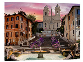 Acrylglas print  Piazza Di Spagna with the Spanish Steps - Dominic Davison