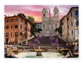Premium poster Piazza Di Spagna with the Spanish Steps