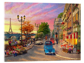 Acrylglas print  Sunset on the Seine - Dominic Davison