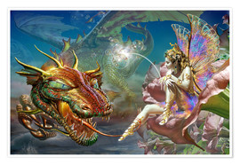 Premium poster The dragon and the fairy