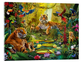 Acrylglas print  Tiger Family in the Jungle - Jan Patrik Krasny