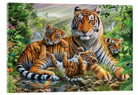 Acrylglas print  Tiger and Cubs - Adrian Chesterman