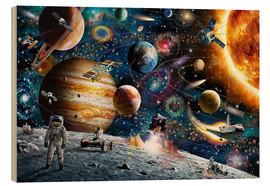 Hout print  Space Odyssey - Adrian Chesterman