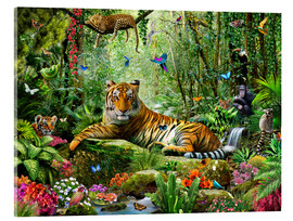 Acrylglas print  Tijger in de jungle - Adrian Chesterman